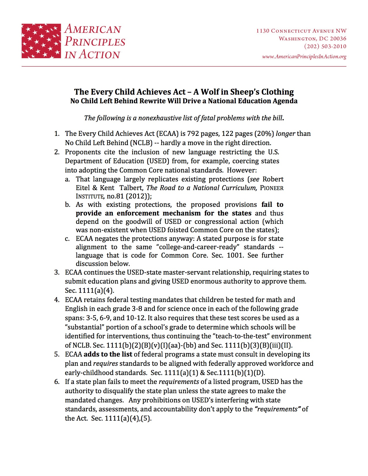 talking points template word - ecaa talking points stop common core in washington state