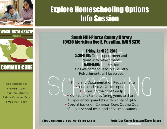 Explore Homeschooling-South Hill Library 4-29-16